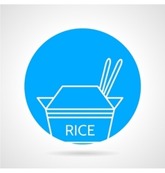 Rice pack round icon vector image vector image