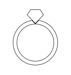 Ring black color icon vector