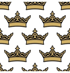 Royal heraldic seamless pattern vector image