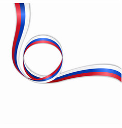 russian wavy flag background vector image