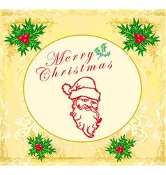 Santa Doodle Retro Card vector image