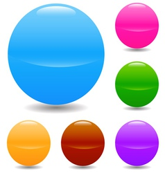 Set of glass spheres vector image