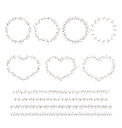 Set of hand drown decorative elements vector image