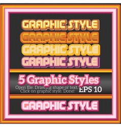 Set warm sweet colorful graphic styles vector