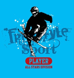 Snow Skate vector image