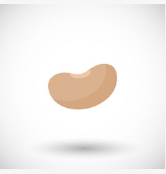 Soy bean flat icon vector