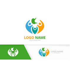 Stomach and people logo combination vector