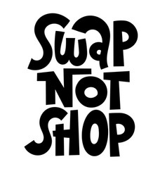 swap party lettering vector image