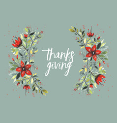 Thanksgiving flowers vector