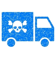 Toxic Transportation Car Grainy Texture Icon vector