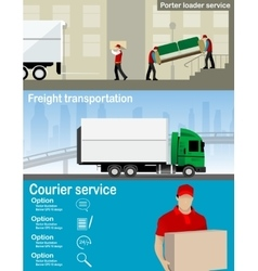 Transportation and delivery company vector