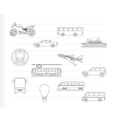 travel and transportation vector image