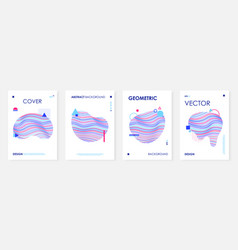 trendy covers template set with abstract fluid vector image