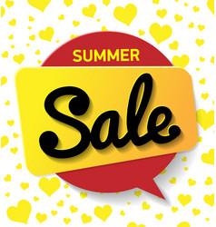 web banner sale summer summer background vector image