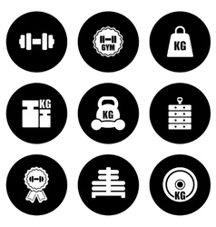 Weight icons set vector