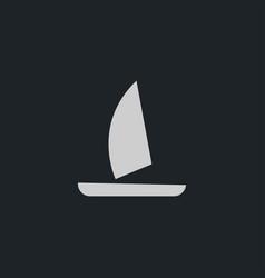 Yacht icon simple vector