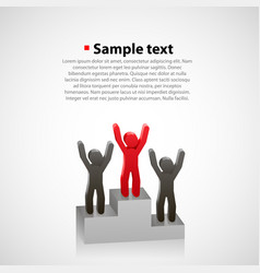 abstract people on a pedestal vector image vector image