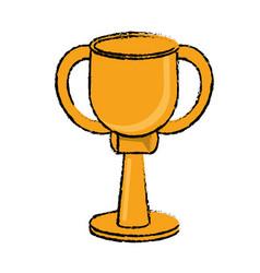 award cup sport win vector image
