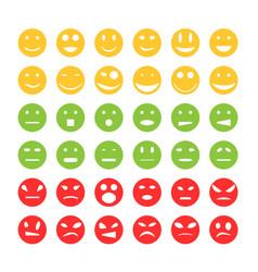 smiley emoticon icons vector image
