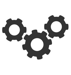 system gears flat icon vector image vector image