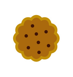 cookies icon flat style vector image
