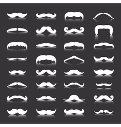 Mustaches icons set Isolated symbol vector image