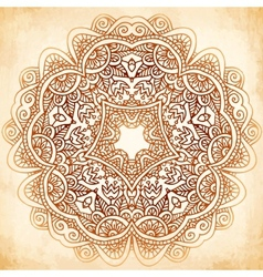 Ornate vintage background in mehndi style vector image vector image