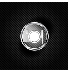 Plate web icon vector image