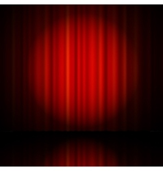 Red curtain from the theatre vector image vector image