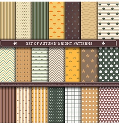 Set of autumn Pattern vector image vector image