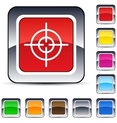sight square button vector image