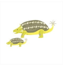 Ankylosaurus Dinosaur Prehistoric Monster Couple vector image