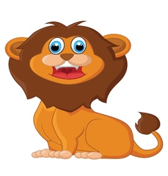Cartoon lion sitting vector image vector image