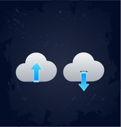 Cloud computing download concept vector image