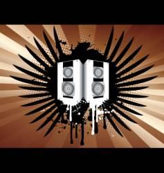 Grunge speakers vector