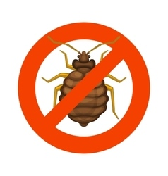 Home Bedbug Red Sign on White Background vector image vector image