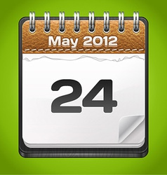 Leather Calendar vector image vector image