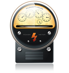 electricity hydro power counter vector image vector image