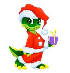 Funny Christmas cartoon character vector image vector image