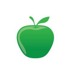 green apple icon logo image vector image