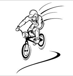 Rider on bike vector image