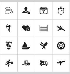 Set of 16 editable complex icons includes symbols vector