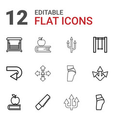 12 back icons vector
