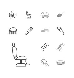 13 comb icons vector