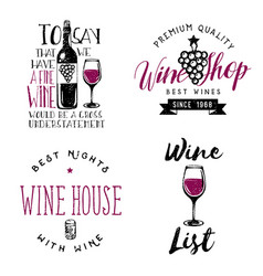 13253 wine themed badges logos labels in vintage vector