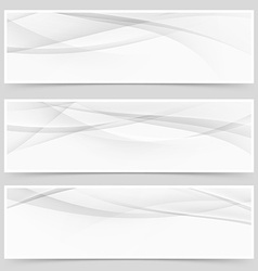 Abstract swoosh modern wave layout card set vector image