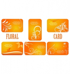 autumn business cards vector image
