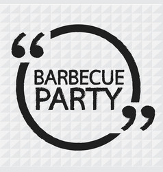 Barbecue party lettering design vector