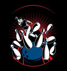 Bowling-man vector