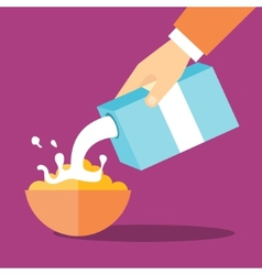 Breakfast flat vector